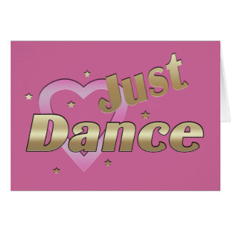 """Just Dance"" BLANK Note Card"