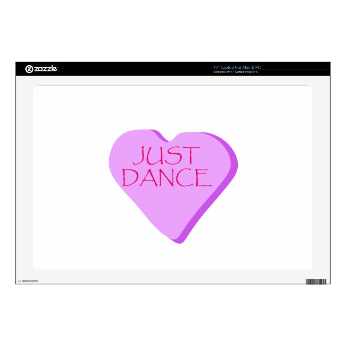 Just Dance Candy Heart Decal For Laptop