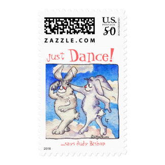 Just DANCE! Cartoon rabbits swing Postage