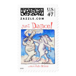 Just DANCE! Cartoon rabbits swing Stamp