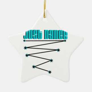 Just Dance Double-Sided Star Ceramic Christmas Ornament
