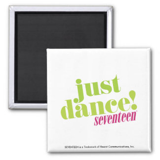Just Dance - Green 2 Inch Square Magnet
