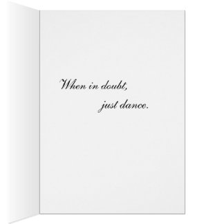 Just Dance Greeting Card