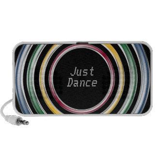 Just dance metallic color techno house music style travel speaker