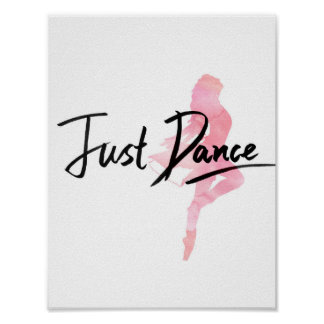 Just Dance Poster (White)