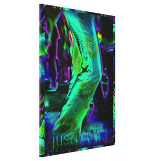 Just Dance Psychedelic  Colours Wrapped Canvas