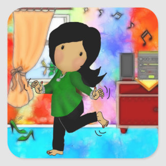 Just Dance Square Stickers