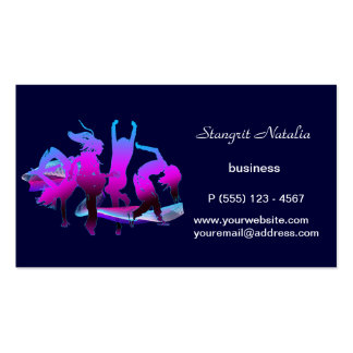 Just dance business cards templates zazzle for Dance business cards