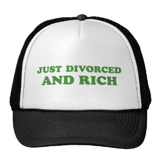 JUST DIVORCED AND RICH TRUCKER HAT