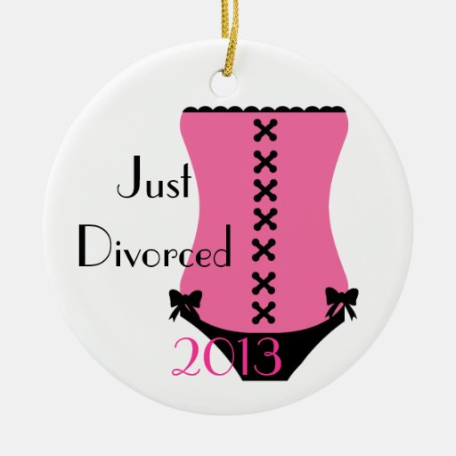 Just Divorced Corset Christmas Ornament