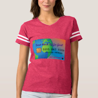Just Divorced Customized Credit Card T-shirt