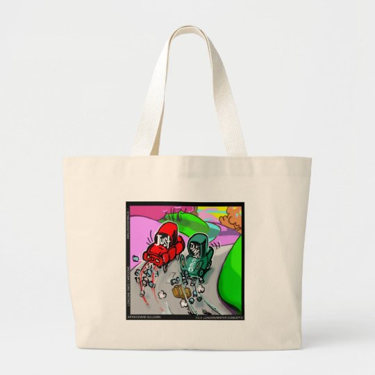 Just Divorced Funny Gifts Cards Tees Etc Large Tote Bag