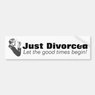 Just Divorced: Men Divorce Celebration Humor Bumper Sticker