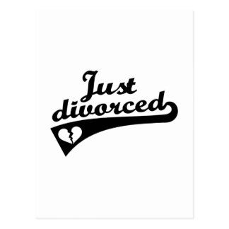Just divorced postcard