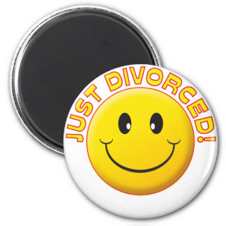 Just Divorced Smile 2 Inch Round Magnet