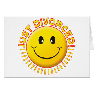 Just Divorced Smiley Card