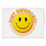Just Divorced Smiley Greeting Cards