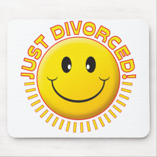 Just Divorced Smiley Mousemat