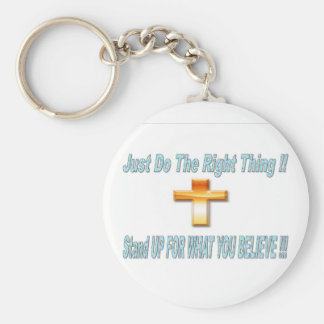 Just Do The Right THing Basic Round Button Keychain