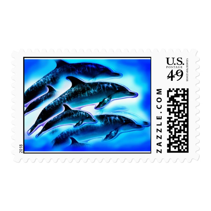 JUST DOLPHINS STAMP