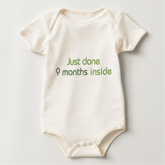 Just done 9 months inside baby bodysuit