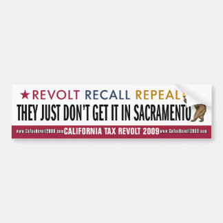 Just Don't Get It In Sacramento Bumper Sticker