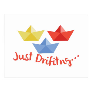 Just Drifting Postcard