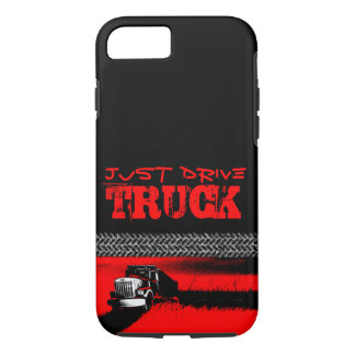 JUST DRIVE Truck: RED iPhone 7 Case