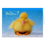 Just Duckie Birth Announcement Boy Greeting Cards