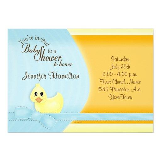 just ducky baby shower invitation 5 x 7 invitation card zazzle