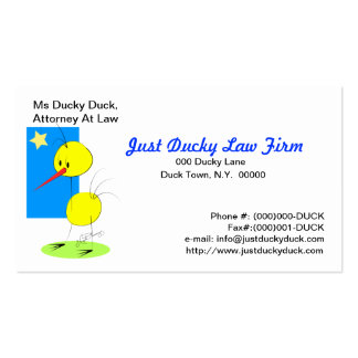 Just Ducky Business Card2 Double-Sided Standard Business Cards (Pack Of 100)