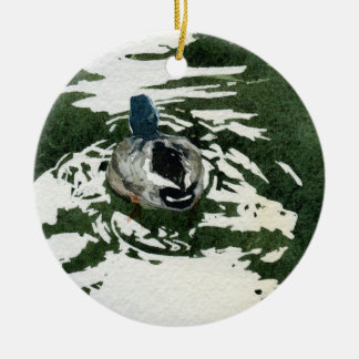 """""""Just Ducky"""" by Iain Stewart Ceramic Ornament"""