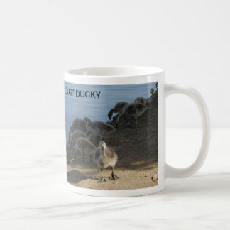 JUST DUCKY CLASSIC WHITE COFFEE MUG