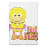 just ducky duck with swimmy tube iPad mini cases