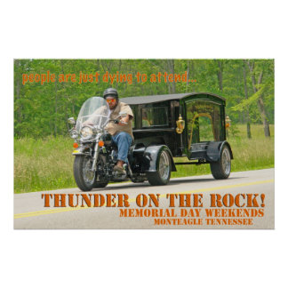 Just Dying To Attend Thunder On The Rock Poster
