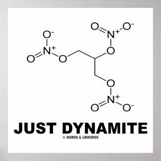 Just Dynamite Nitroglycerin Chemical Molecule Print