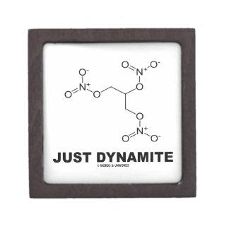 Just Dynamite (Nitroglycerin Chemical Molecule) Premium Trinket Boxes