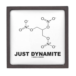 Just Dynamite (Nitroglycerin Chemical Molecule) Premium Jewelry Box