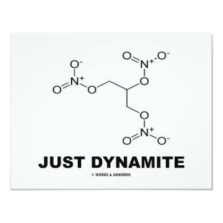 Just Dynamite (Nitroglycerin Chemistry Molecule) 4.25x5.5 Paper Invitation Card