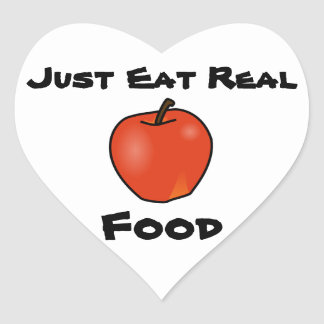 Just Eat Real Food Heart Sticker