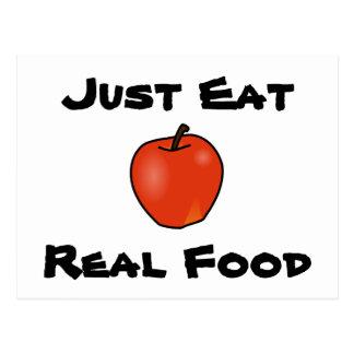 Just Eat Real Food Postcard