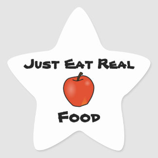 Just Eat Real Food Star Sticker