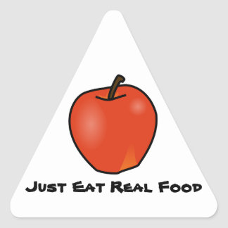 Just Eat Real Food Triangle Sticker
