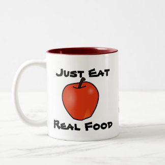 Just Eat Real Food Two-Tone Coffee Mug