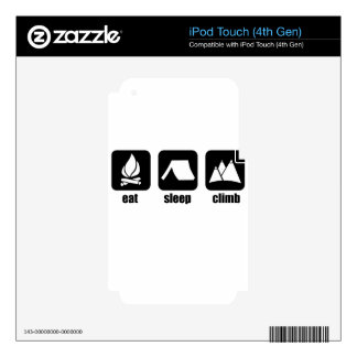 Just eat, sleep and climb. decal for iPod touch 4G
