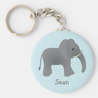 Just Elephant Basic Round Button Keychain