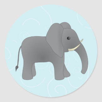 Just Elephant Classic Round Sticker