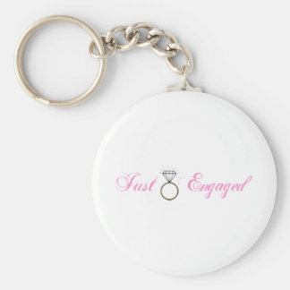 Just Engaged (Diamond Engagement Ring) Basic Round Button Keychain