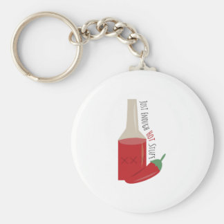 Just Enough Hot Basic Round Button Keychain
