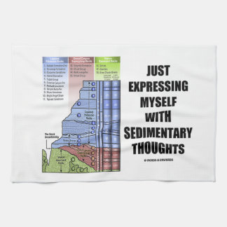 Just Expressing Myself With Sedimentary Thoughts Hand Towel